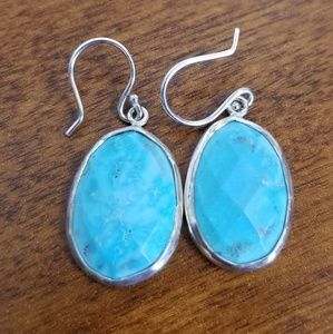 Jewelry - Indian genuine turquoise and silver earrings